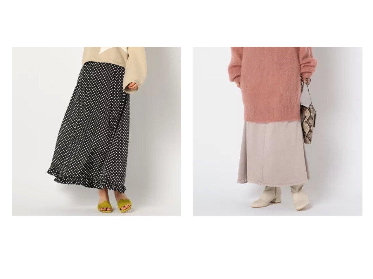 【Rie Miller/リエミラー】のフラウンスヘムマキシ丈スカート&【NOLLEY'S/ノーリーズ】のカットスカート スカートのおすすめ!人気トレンド・レディースファッションの通販 おすすめで人気の流行・トレンド、ファッションの通販商品 メンズファッション・キッズファッション・インテリア・家具・レディースファッション・服の通販 founy(ファニー) https://founy.com/ ファッション Fashion レディースファッション WOMEN スカート Skirt ドット ドレープ フェミニン フリル プリント マキシ ロング  ID:crp329100000008987