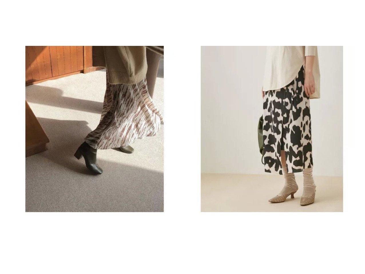 【Adam et Rope/アダム エ ロペ】のデシンプリントラップスカート&【marjour/マージュール】のLINEDOT SKIRT スカートのおすすめ!人気トレンド・レディースファッションの通販 おすすめで人気の流行・トレンド、ファッションの通販商品 メンズファッション・キッズファッション・インテリア・家具・レディースファッション・服の通販 founy(ファニー) https://founy.com/ ファッション Fashion レディースファッション WOMEN スカート Skirt 春 秋 今季 ジャケット スウェット タイツ ドット 長袖 フィット フレア マキシ マーメイド ロング 冬 Winter アニマル グラデーション シンプル デニム プリント ポケット モノトーン ラップ  ID:crp329100000008988