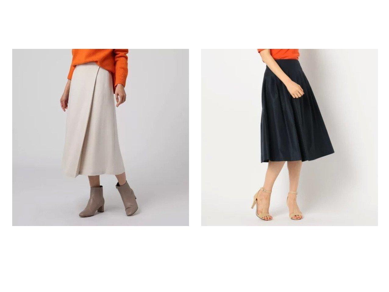 【UNTITLED/アンタイトル】のリリックポンチラップ風フレアスカート&【NOLLEY'S/ノーリーズ】のタックスカート スカートのおすすめ!人気トレンド・レディースファッションの通販 おすすめで人気の流行・トレンド、ファッションの通販商品 メンズファッション・キッズファッション・インテリア・家具・レディースファッション・服の通販 founy(ファニー) https://founy.com/ ファッション Fashion レディースファッション WOMEN スカート Skirt Aライン/フレアスカート Flared A-Line Skirts インナー フレア ポケット ラップ フォーマル  ID:crp329100000008989