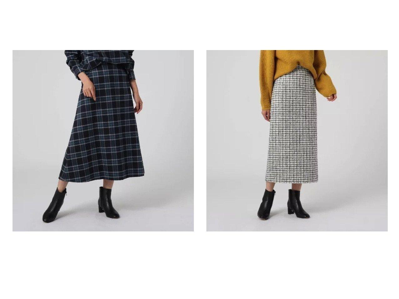 【UNTITLED/アンタイトル】のフローラチェックフレアスカート&グランツィードタイトスカート スカートのおすすめ!人気トレンド・レディースファッションの通販 おすすめで人気の流行・トレンド、ファッションの通販商品 メンズファッション・キッズファッション・インテリア・家具・レディースファッション・服の通販 founy(ファニー) https://founy.com/ ファッション Fashion レディースファッション WOMEN スカート Skirt Aライン/フレアスカート Flared A-Line Skirts クラシカル チェック フレア ポケット A/W 秋冬 Autumn &  Winter スリット タイトスカート ツイード  ID:crp329100000008992