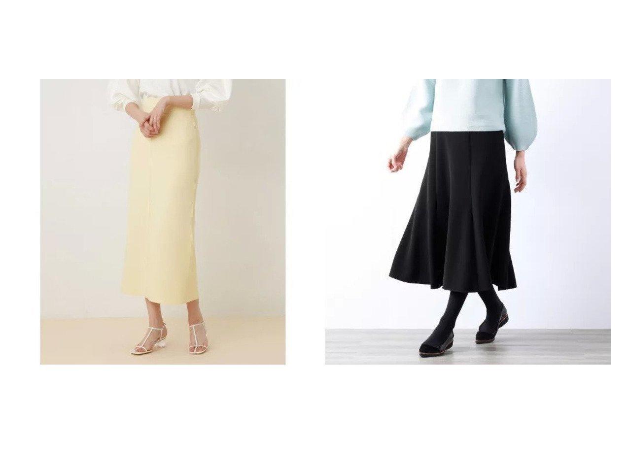 【AMACA/アマカ】のダブルクロスストレッチスカート&【Adam et Rope/アダム エ ロペ】の【セットアップ対応】ニットジョーゼットボンディングスカート スカートのおすすめ!人気トレンド・レディースファッションの通販 おすすめで人気の流行・トレンド、ファッションの通販商品 メンズファッション・キッズファッション・インテリア・家具・レディースファッション・服の通販 founy(ファニー) https://founy.com/ ファッション Fashion レディースファッション WOMEN セットアップ Setup スカート Skirt スカート Skirt オケージョン コンパクト サンダル シンプル セットアップ チュニック フィット ボンディング ポケット マキシ ロング  ID:crp329100000008995