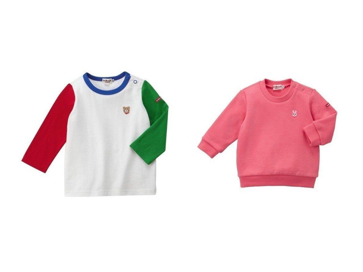 【MIKI HOUSE HOT BISCUITS / KIDS/ミキハウスホットビスケッツ】の【HOTBISCUITS】ワンポイントTシャツ&【HOTBISCUITS】ワンポイント刺繍トレーナー 【KIDS】子供服のおすすめ!人気トレンド・キッズファッションの通販 おすすめで人気の流行・トレンド、ファッションの通販商品 メンズファッション・キッズファッション・インテリア・家具・レディースファッション・服の通販 founy(ファニー) https://founy.com/ ファッション Fashion キッズファッション KIDS トップス Tops Tees Kids シンプル スタンダード セパレート ベビー ワンポイント 長袖 トレーナー  ID:crp329100000009018