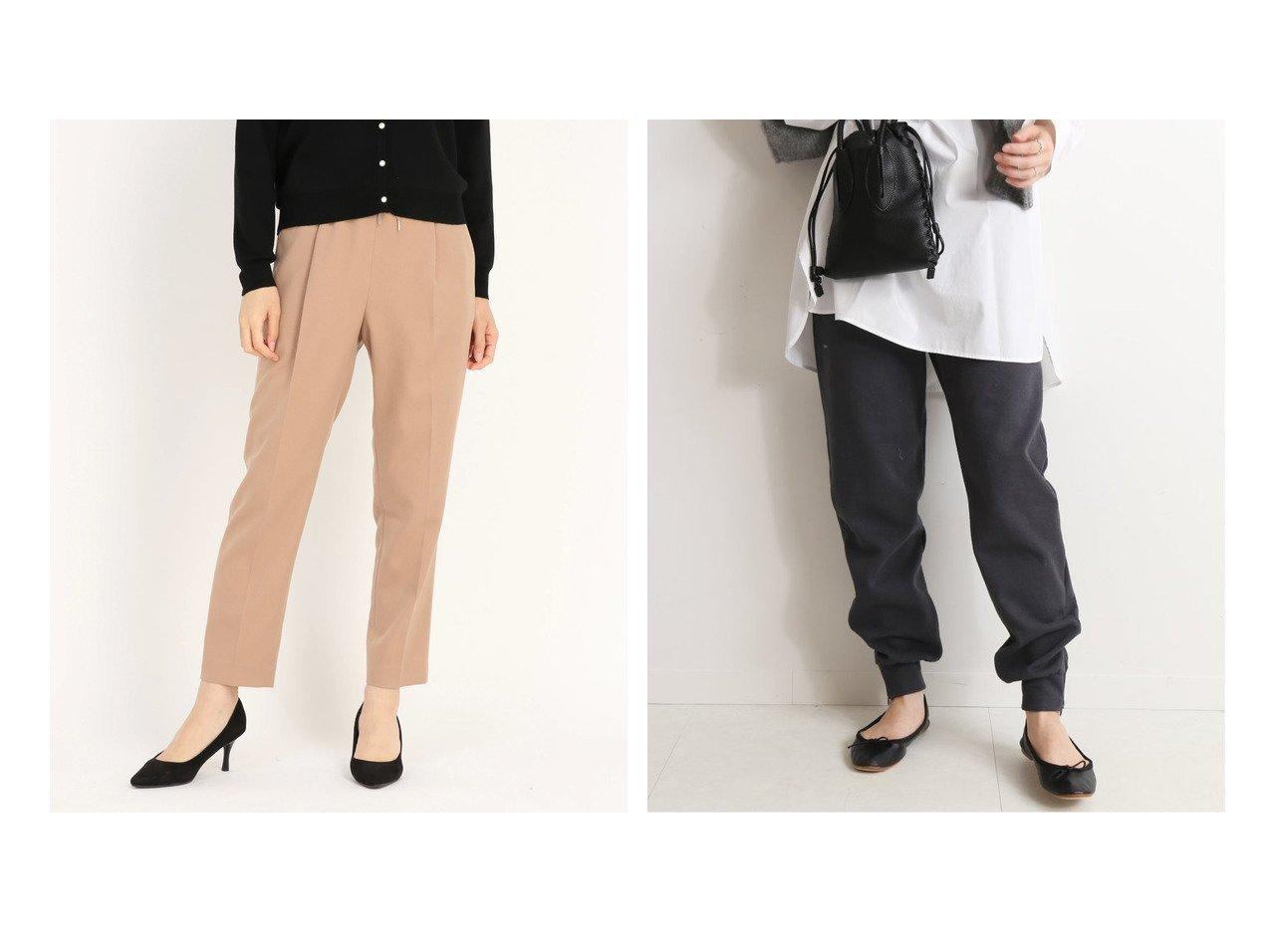 【SLOBE IENA/スローブ イエナ】のラチネジャージージョガーパンツ&【STRAWBERRY FIELDS/ストロベリーフィールズ】のプルックツイル パンツ パンツのおすすめ!人気トレンド・レディースファッションの通販  おすすめで人気の流行・トレンド、ファッションの通販商品 メンズファッション・キッズファッション・インテリア・家具・レディースファッション・服の通販 founy(ファニー) https://founy.com/ ファッション Fashion レディースファッション WOMEN パンツ Pants リブニット A/W 秋冬 Autumn &  Winter ロング |ID:crp329100000009034