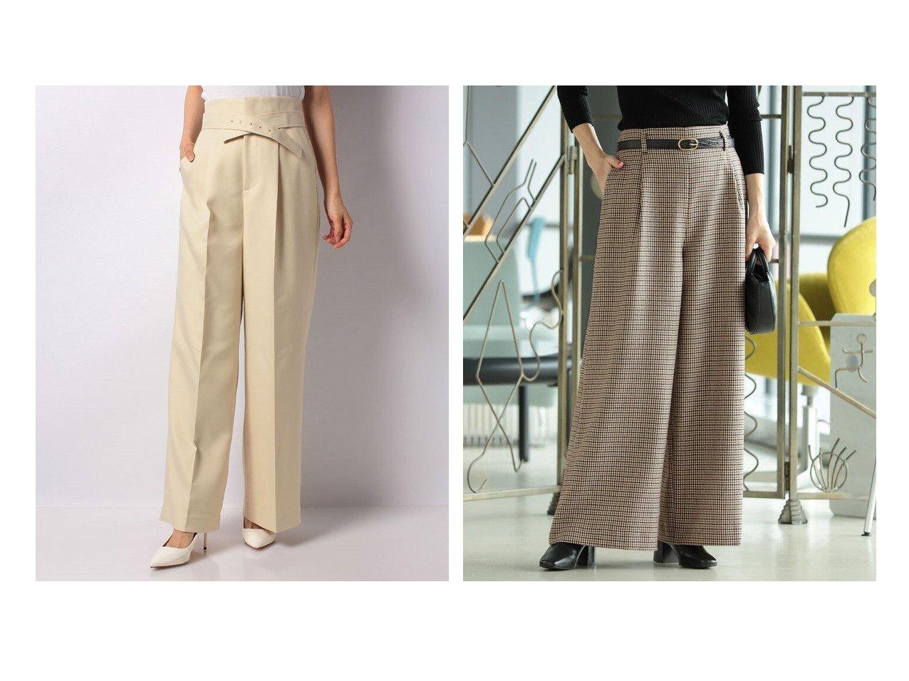 【Demi-Luxe BEAMS/デミルクス ビームス】のDemi- ウール タック ワイドパンツ&【ANAYI/アナイ】の【2021 Pre Spring】ツイルセミワイドパンツ パンツのおすすめ!人気トレンド・レディースファッションの通販  おすすめで人気の流行・トレンド、ファッションの通販商品 メンズファッション・キッズファッション・インテリア・家具・レディースファッション・服の通販 founy(ファニー) https://founy.com/ ファッション Fashion レディースファッション WOMEN パンツ Pants イエロー 春 コンパクト ジャケット ツイル ワイド |ID:crp329100000009035
