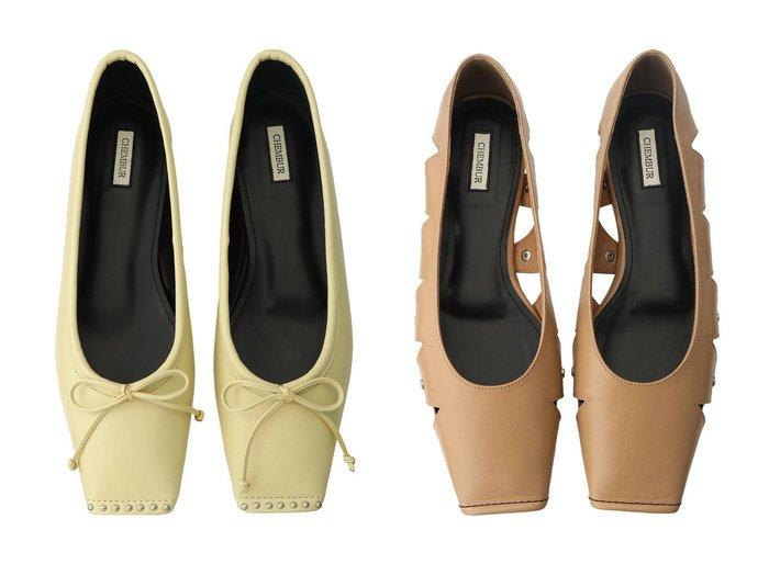 【CHEMBUR/チェンバー】のスクエアトゥカットワークフラットシューズ&スタッズ付きスクエアトゥバレエシューズ シューズ・靴のおすすめ!人気、トレンド・レディースファッションの通販  おすすめファッション通販アイテム レディースファッション・服の通販 founy(ファニー) ファッション Fashion レディースファッション WOMEN シューズ スタッズ バレエ フラット タイツ レギンス |ID:crp329100000009072