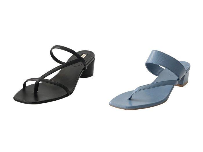 【CHEMBUR/チェンバー】の【ELLE SHOP限定】トングスラントサンダル&トングスラントサンダル シューズ・靴のおすすめ!人気、トレンド・レディースファッションの通販  おすすめファッション通販アイテム レディースファッション・服の通販 founy(ファニー) ファッション Fashion レディースファッション WOMEN サンダル デニム バランス ラップ 春 |ID:crp329100000009075