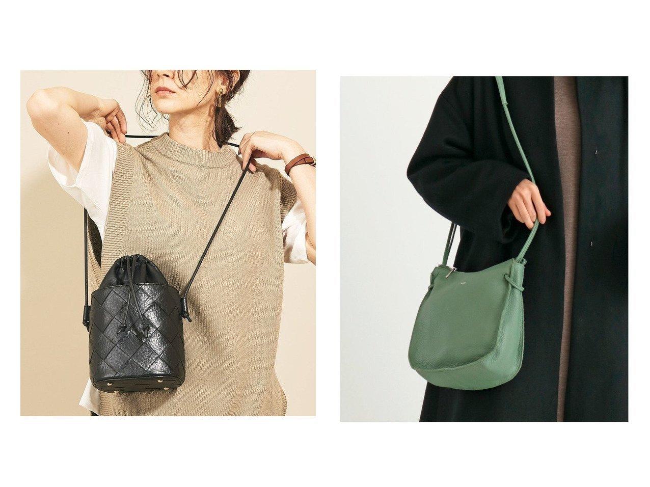 【nouer/ヌエール】のカウレザーラウンドショルダーバッグ&【BEAUTY&YOUTH UNITED ARROWS/ビューティアンド ユースユナイテッドアローズ】のBY メッシュボトル ドローストショルダーバッグ -2WAY- バッグ・鞄のおすすめ!人気、トレンド・レディースファッションの通販  おすすめで人気の流行・トレンド、ファッションの通販商品 メンズファッション・キッズファッション・インテリア・家具・レディースファッション・服の通販 founy(ファニー) https://founy.com/ ファッション Fashion レディースファッション WOMEN バッグ Bag トレンド ポケット メッシュ 春 財布 |ID:crp329100000009103