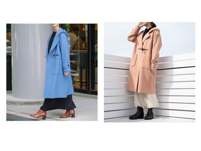 【Munich/ミューニック】のブラッシュウールメルトンダッフルコート アウターのおすすめ!人気、トレンド・レディースファッションの通販  おすすめファッション通販アイテム レディースファッション・服の通販 founy(ファニー) ファッション Fashion レディースファッション WOMEN アウター Coat Outerwear コート Coats ジャケット Jackets ダッフルコート Duffle Coats インナー クラシック コーデュロイ ジャケット ダウン ダッフルコート デニム トレーナー 定番 フロント メルトン ロング |ID:crp329100000009143