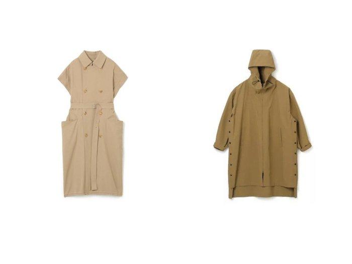 【08sircus/ゼロエイトサーカス】のCotton supporter red selvage coat&High count weather hoodie coat アウターのおすすめ!人気、トレンド・レディースファッションの通販  おすすめファッション通販アイテム インテリア・キッズ・メンズ・レディースファッション・服の通販 founy(ファニー) https://founy.com/ ファッション Fashion レディースファッション WOMEN アウター Coat Outerwear コート Coats トレンチコート Trench Coats ストレッチ ヘムライン ポケット アウトドア スピンドル スリット ドット ハイネック ポンチョ |ID:crp329100000009145