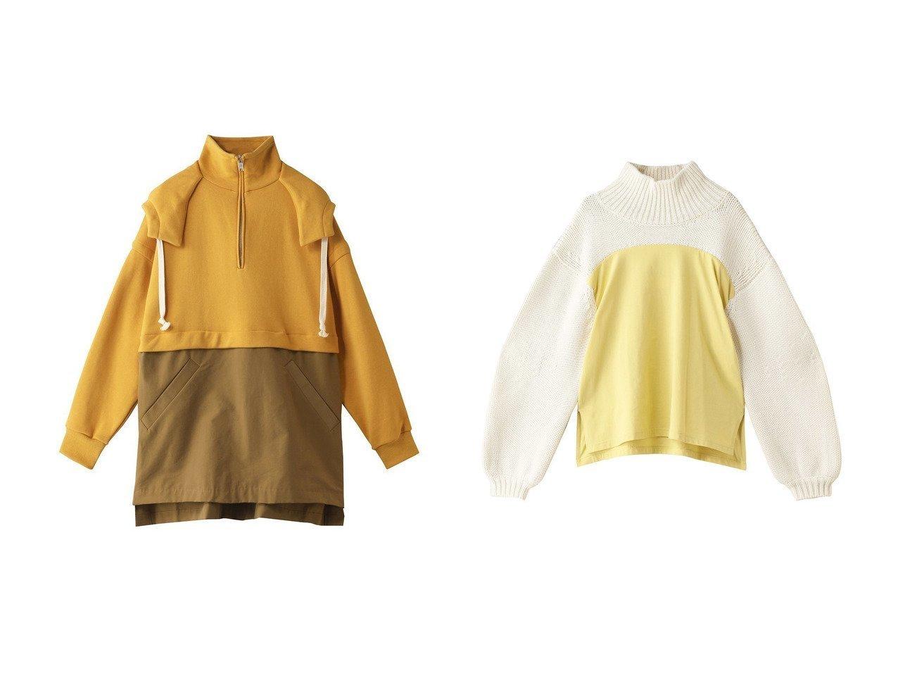 【nagonstans/ナゴンスタンス】のFrench Terry Big パーカー&Knit combination プルオーバー トップス・カットソーのおすすめ!人気、トレンド・レディースファッションの通販 おすすめで人気の流行・トレンド、ファッションの通販商品 メンズファッション・キッズファッション・インテリア・家具・レディースファッション・服の通販 founy(ファニー) https://founy.com/ ファッション Fashion レディースファッション WOMEN トップス Tops Tshirt シャツ/ブラウス Shirts Blouses パーカ Sweats ロング / Tシャツ T-Shirts スウェット Sweat カットソー Cut and Sewn ニット Knit Tops プルオーバー Pullover ジップ スリット パーカー ハイネック |ID:crp329100000009204