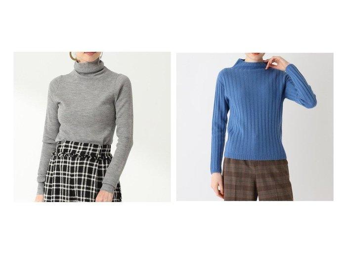 【Demi-Luxe BEAMS/デミルクス ビームス】のDemi- リブ タートルネックニット&【SOFUOL/ソフール】のカシミヤウールハイネックニット トップス・カットソーのおすすめ!人気、トレンド・レディースファッションの通販 おすすめファッション通販アイテム レディースファッション・服の通販 founy(ファニー) ファッション Fashion レディースファッション WOMEN トップス Tops Tshirt ニット Knit Tops タートルネック Turtleneck イタリア インナー シンプル セーター タートルネック プレーン なめらか カシミヤ ベーシック ボトルネック 人気 |ID:crp329100000009257