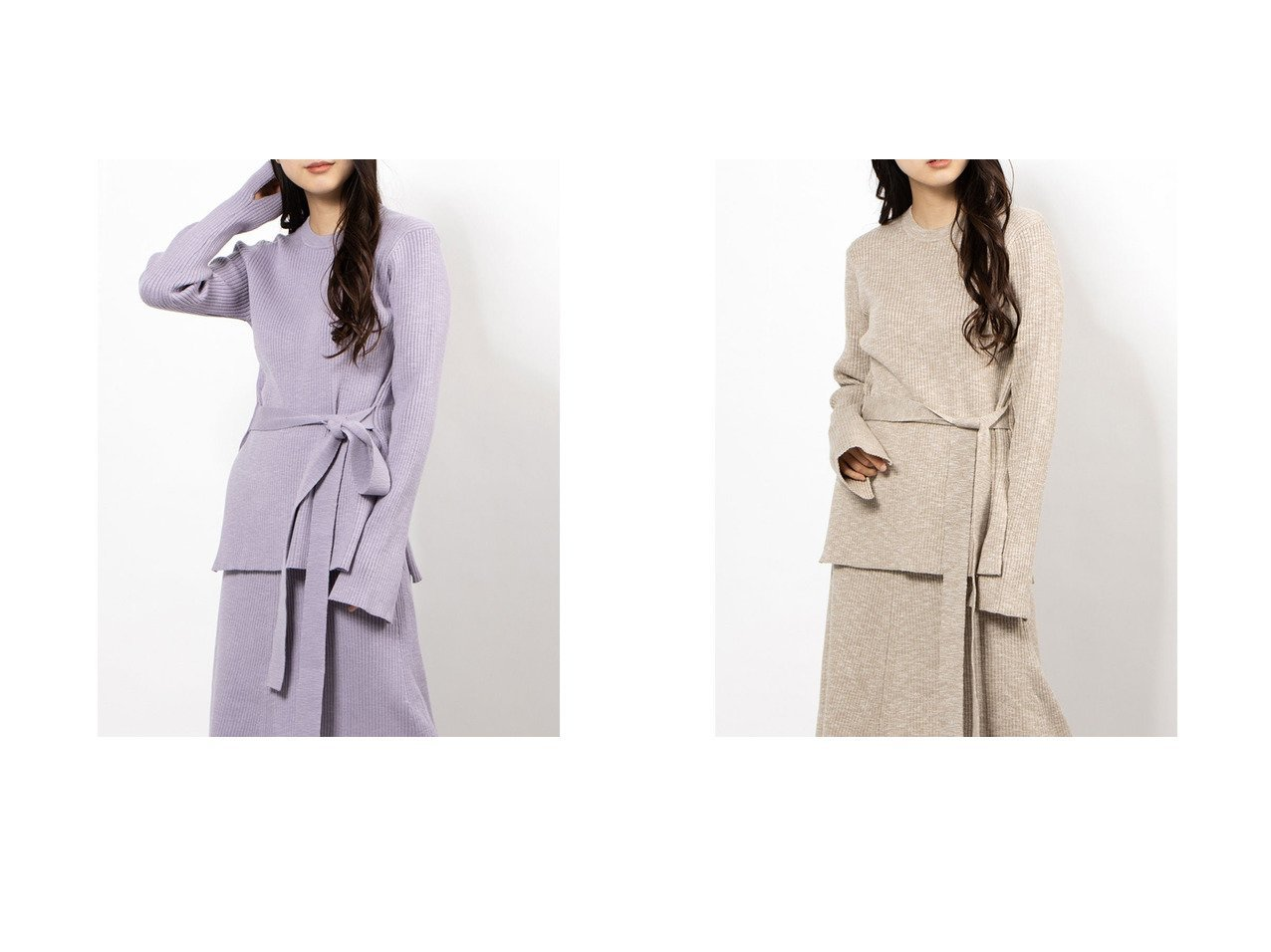 【Mila Owen/ミラオーウェン】のリボン付クルーネックリブニット トップス・カットソーのおすすめ!人気、トレンド・レディースファッションの通販 おすすめで人気の流行・トレンド、ファッションの通販商品 メンズファッション・キッズファッション・インテリア・家具・レディースファッション・服の通販 founy(ファニー) https://founy.com/ ファッション Fashion レディースファッション WOMEN トップス Tops Tshirt ニット Knit Tops スマート リブニット リボン  ID:crp329100000009282
