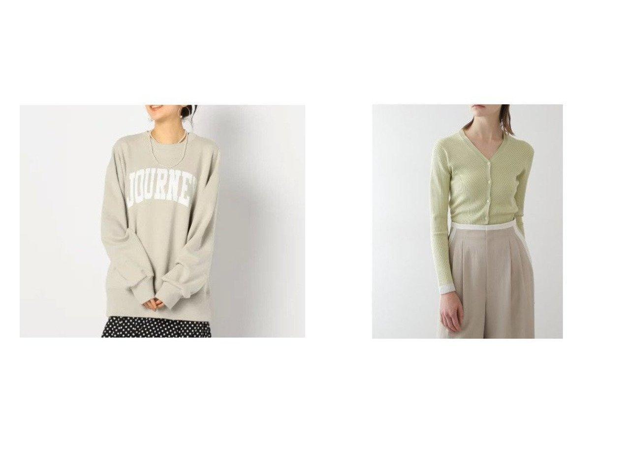 【Rie Miller/リエミラー】の裏毛スウェットシャツ&【BOSCH/ボッシュ】のシルクストレッチリブニットカーディガン トップス・カットソーのおすすめ!人気、トレンド・レディースファッションの通販 おすすめで人気の流行・トレンド、ファッションの通販商品 メンズファッション・キッズファッション・インテリア・家具・レディースファッション・服の通販 founy(ファニー) https://founy.com/ ファッション Fashion レディースファッション WOMEN トップス Tops Tshirt シャツ/ブラウス Shirts Blouses パーカ Sweats スウェット Sweat ニット Knit Tops カーディガン Cardigans シンプル スウェット トレンド フロント ボトム メンズ 長袖 カーディガン コンパクト シルク ストレッチ スリム  ID:crp329100000009283