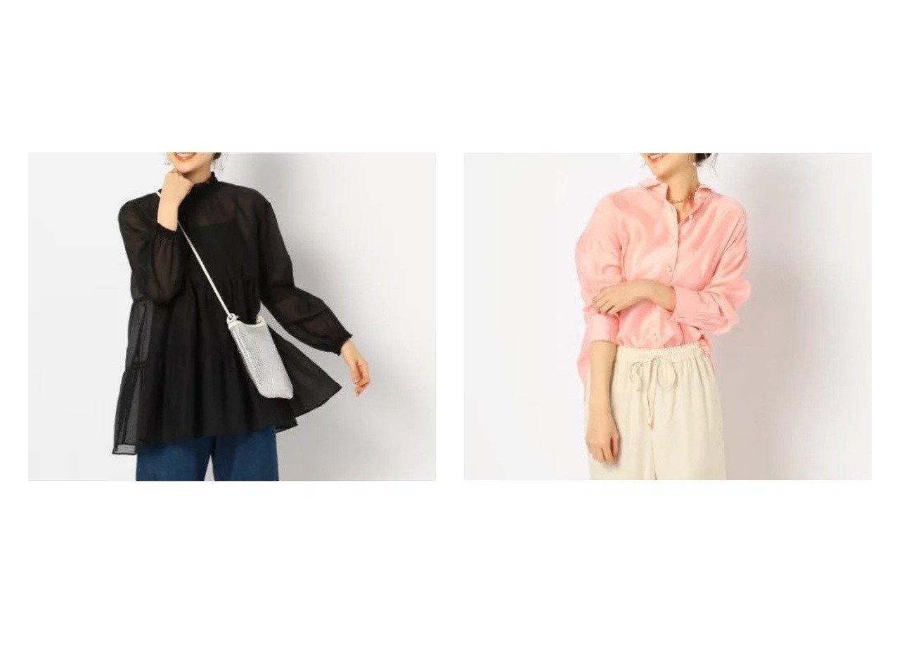 【NOLLEY'S/ノーリーズ】のカールマイヤーティアードブラウス&シアースラブパール釦2wayシャツ トップス・カットソーのおすすめ!人気、トレンド・レディースファッションの通販 おすすめで人気の流行・トレンド、ファッションの通販商品 メンズファッション・キッズファッション・インテリア・家具・レディースファッション・服の通販 founy(ファニー) https://founy.com/ ファッション Fashion レディースファッション WOMEN トップス Tops Tshirt シャツ/ブラウス Shirts Blouses ティアード トレンド フェミニン シアー デニム パール リネン ロング 春  ID:crp329100000009288