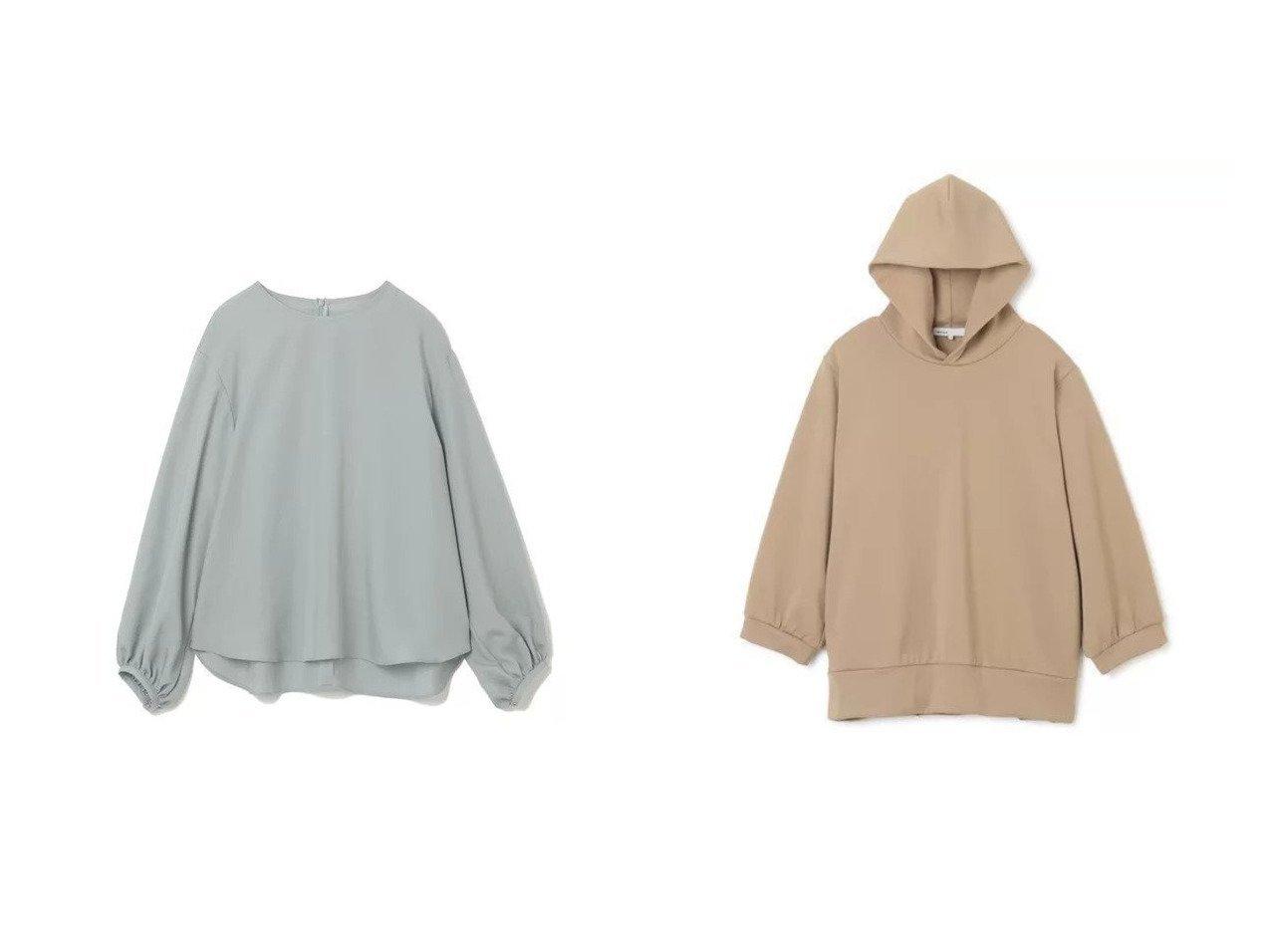 【08sircus/ゼロエイトサーカス】のCompact terry gather sleeve hoodie&【M7days/エムセブンデイズ】の袖ボリュームブラウス トップス・カットソーのおすすめ!人気、トレンド・レディースファッションの通販 おすすめで人気の流行・トレンド、ファッションの通販商品 メンズファッション・キッズファッション・インテリア・家具・レディースファッション・服の通販 founy(ファニー) https://founy.com/ ファッション Fashion レディースファッション WOMEN トップス Tops Tshirt シャツ/ブラウス Shirts Blouses パーカ Sweats スウェット Sweat トレンド ボトム 長袖 ギャザー コンパクト スウェット パーカー 軽量  ID:crp329100000009289