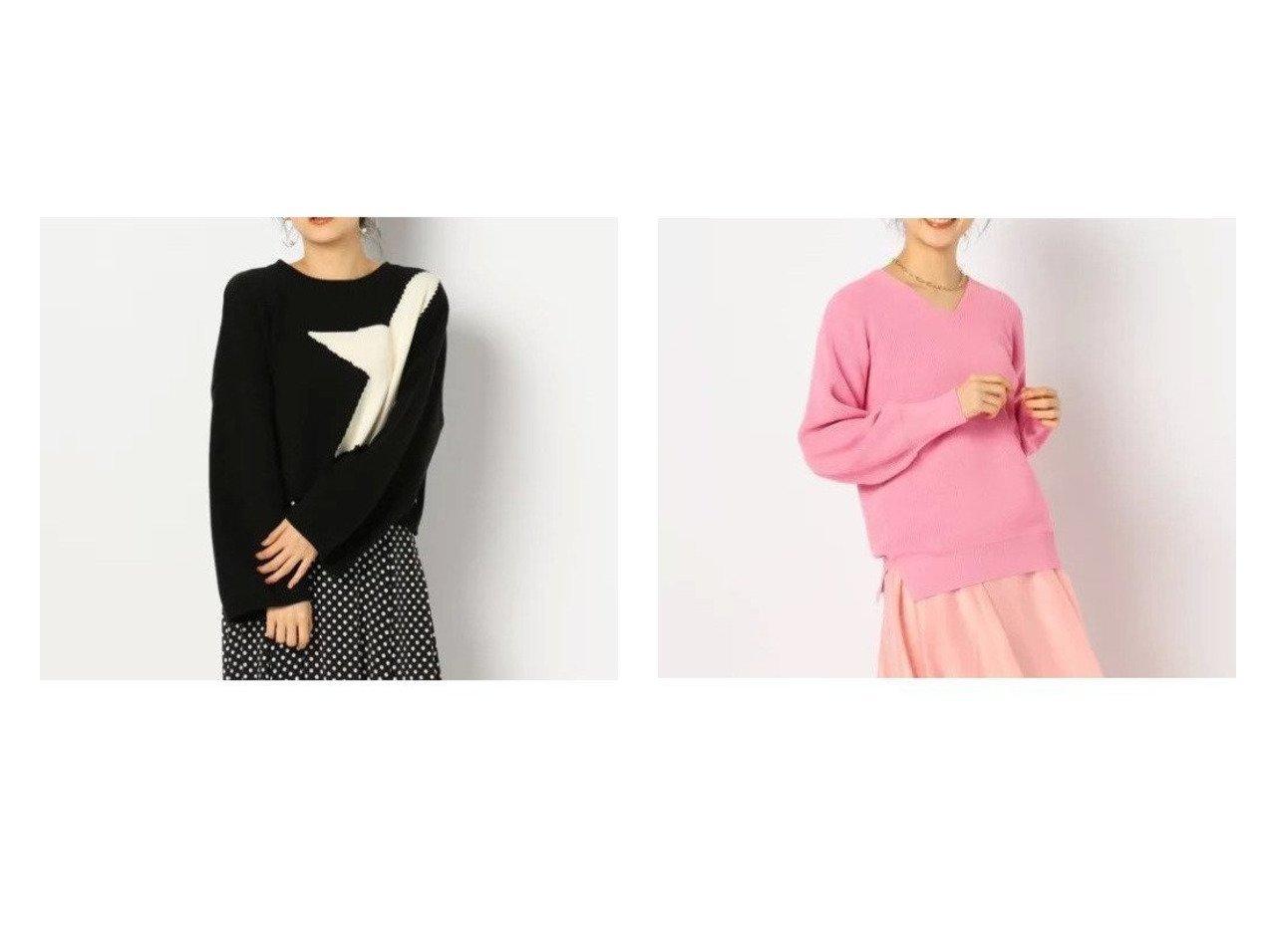 【Rie Miller/リエミラー】の星インターシャプルオーバーニット&【NOLLEY'S/ノーリーズ】の片畦Vネックプルオーバーニット トップス・カットソーのおすすめ!人気、トレンド・レディースファッションの通販 おすすめで人気の流行・トレンド、ファッションの通販商品 メンズファッション・キッズファッション・インテリア・家具・レディースファッション・服の通販 founy(ファニー) https://founy.com/ ファッション Fashion レディースファッション WOMEN トップス Tops Tshirt ニット Knit Tops プルオーバー Pullover Vネック V-Neck ショルダー スタイリッシュ セーター ドロップ モチーフ ロング 春 畦  ID:crp329100000009290