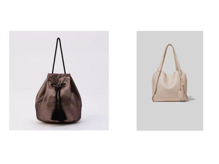 【MARC JACOBS/マーク ジェイコブス】のTHE DIRECTOR TOTE&【NOLLEY'S/ノーリーズ】のラメタッセルきんちゃくバッグ バッグ・鞄のおすすめ!人気、トレンド・レディースファッションの通販 おすすめファッション通販アイテム レディースファッション・服の通販 founy(ファニー) ファッション Fashion レディースファッション WOMEN バッグ Bag コンパクト タッセル トレンド 巾着 コーティング ジップ ダブル チャーム バランス ポケット ライニング |ID:crp329100000009320