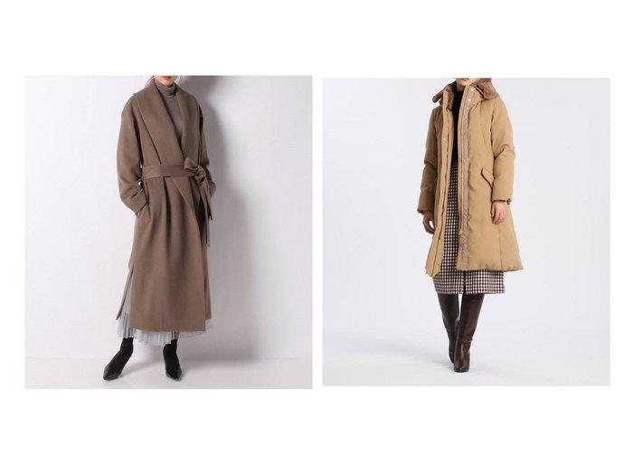 【INED/イネド】のボリュームファーロングダウン《Re DOWN》&【allureville/アルアバイル】のビーバーショールカラーコート アウターのおすすめ!人気、トレンド・レディースファッションの通販 おすすめファッション通販アイテム レディースファッション・服の通販 founy(ファニー) ファッション Fashion レディースファッション WOMEN アウター Coat Outerwear コート Coats ガウン ショール ロング スタンド ダウン ポケット リュクス 防寒  ID:crp329100000009339