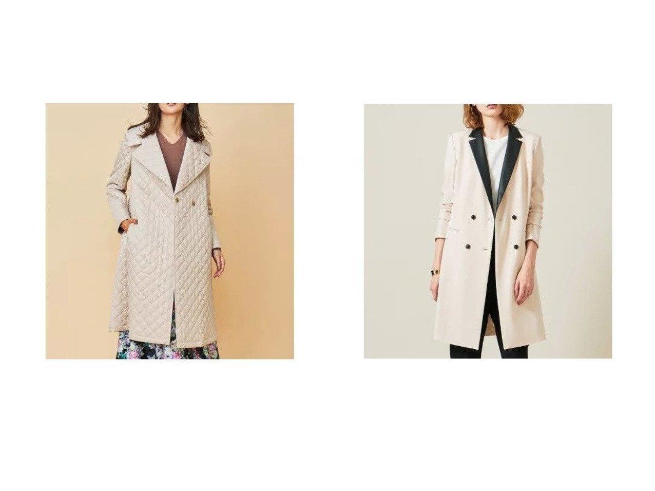 【KUMIKYOKU/組曲】の【Rythme KUMIKYOKU】キルティング ドレス コート&【BEIGE,/ベイジ,】のロングジャケット アウターのおすすめ!人気、トレンド・レディースファッションの通販 おすすめで人気の流行・トレンド、ファッションの通販商品 メンズファッション・キッズファッション・インテリア・家具・レディースファッション・服の通販 founy(ファニー) https://founy.com/ ファッション Fashion レディースファッション WOMEN アウター Coat Outerwear ジャケット Jackets コート Coats ワンピース Dress ドレス Party Dresses クール サテン シンプル ジャケット スタイリッシュ ストレッチ スマート セットアップ ドレープ 定番 人気 モノトーン ロング キルティング キルト コレクション ツイル ドレス パターン フラワー ベーシック モチーフ ローズ |ID:crp329100000009351