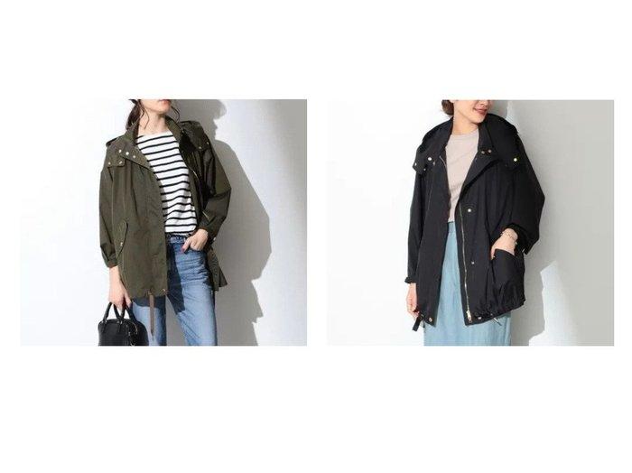 【Demi-Luxe BEAMS/デミルクス ビームス】のANORAK クリンクルナイロン フードコート アウターのおすすめ!人気、トレンド・レディースファッションの通販 おすすめファッション通販アイテム レディースファッション・服の通販 founy(ファニー) ファッション Fashion レディースファッション WOMEN アウター Coat Outerwear コート Coats アウトドア 人気 バランス ファブリック ラグジュアリー |ID:crp329100000009352