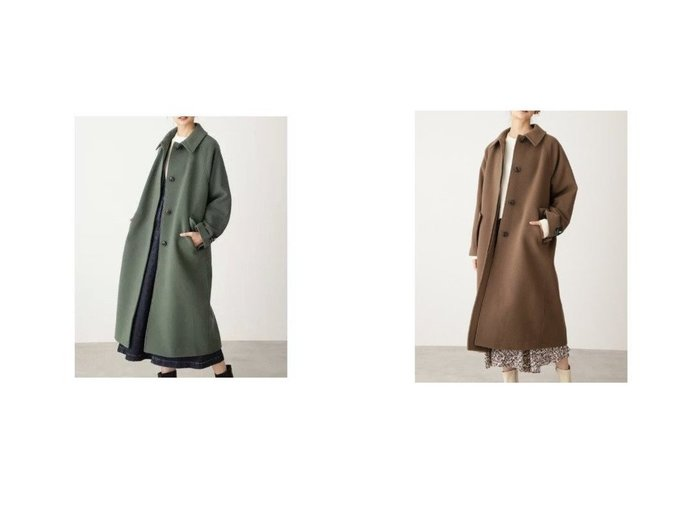 【N.Natural Beauty basic/エヌ ナチュラルビューティーベーシック】のパイルステンカラーコート アウターのおすすめ!人気、トレンド・レディースファッションの通販 おすすめファッション通販アイテム レディースファッション・服の通販 founy(ファニー) ファッション Fashion レディースファッション WOMEN アウター Coat Outerwear コート Coats イタリア シンプル スタンダード スリット |ID:crp329100000009353