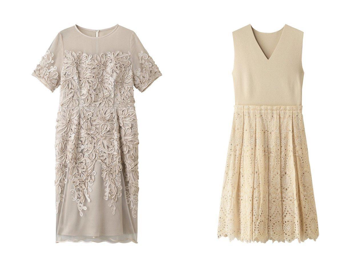 【ANAYI/アナイ】のチュールシシュウソデツキワンピース&ミラノリブシシュウレースタックワンピース ワンピース・ドレスのおすすめ!人気、トレンド・レディースファッションの通販 おすすめで人気の流行・トレンド、ファッションの通販商品 メンズファッション・キッズファッション・インテリア・家具・レディースファッション・服の通販 founy(ファニー) https://founy.com/ ファッション Fashion レディースファッション WOMEN ワンピース Dress チュール デコルテ パーティ フェミニン フラワー ミラノリブ レース |ID:crp329100000009357