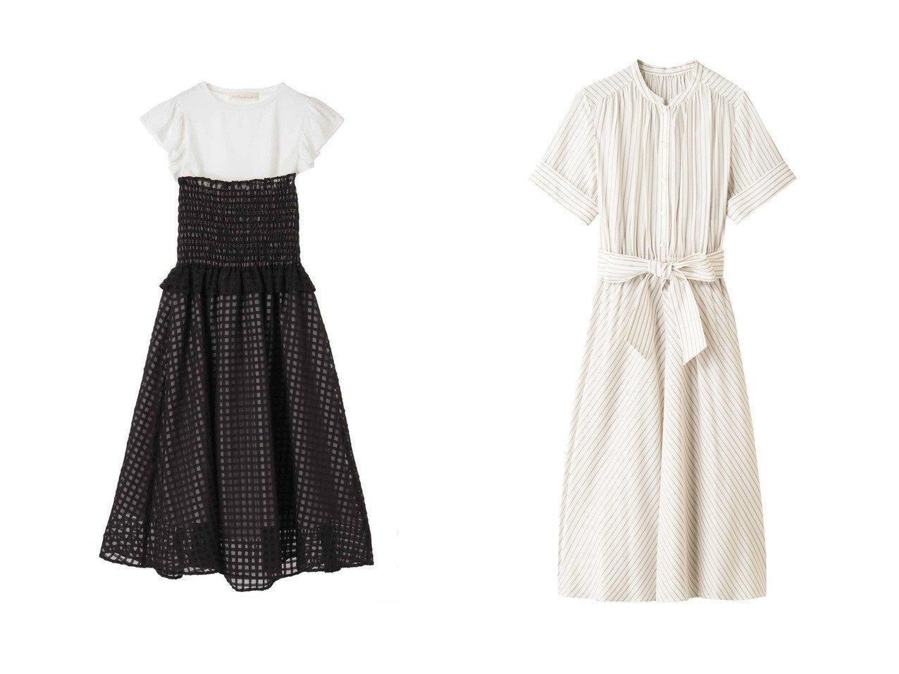 【31 Sons de mode/トランテアン ソン ドゥ モード】のTシャツ付きギンガムワンピース&【ANAYI/アナイ】のストライプスタンドカラーシャツワンピース ワンピース・ドレスのおすすめ!人気、トレンド・レディースファッションの通販 おすすめで人気の流行・トレンド、ファッションの通販商品 メンズファッション・キッズファッション・インテリア・家具・レディースファッション・服の通販 founy(ファニー) https://founy.com/ ファッション Fashion レディースファッション WOMEN ワンピース Dress シャツワンピース Shirt Dresses インナー エアリー ガーリー ギンガム シャーリング スリーブ チェック バランス フィット フリル フレンチ オケージョン ストライプ |ID:crp329100000009358