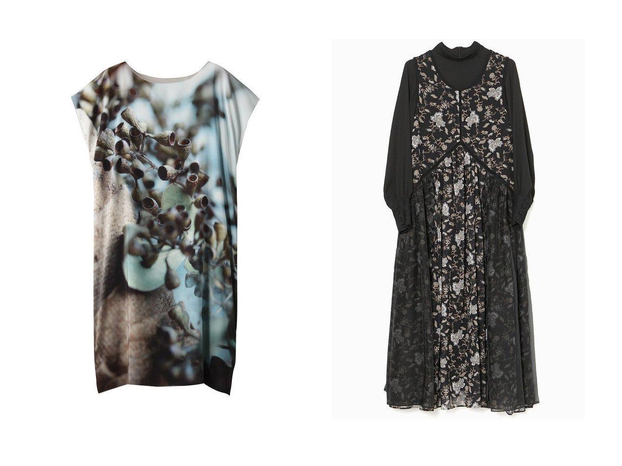 【PLAIN PEOPLE/プレインピープル】の写真プリントドレス&【AULA/アウラ】の【AULA AILA×yukko】フラワーペーズリーセットドレス ワンピース・ドレスのおすすめ!人気、トレンド・レディースファッションの通販 おすすめで人気の流行・トレンド、ファッションの通販商品 メンズファッション・キッズファッション・インテリア・家具・レディースファッション・服の通販 founy(ファニー) https://founy.com/ ファッション Fashion レディースファッション WOMEN ワンピース Dress ドレス Party Dresses ドレス フロント プリント 無地 インナー カフス シアー シンプル デニム レース ロング 人気 |ID:crp329100000009361