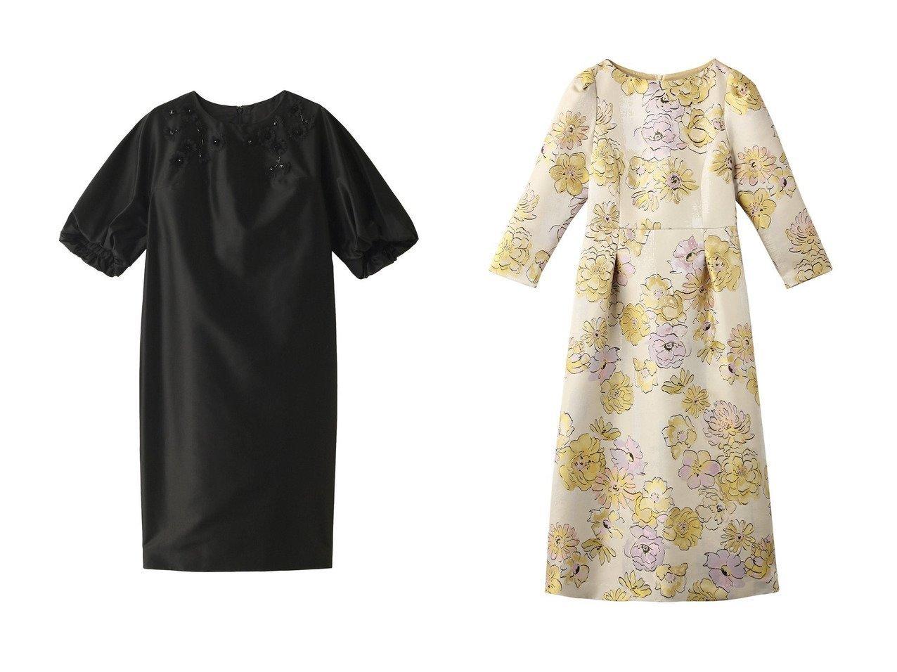 【ANAYI/アナイ】のタフタフラワービジューワンピース&【allureville/アルアバイル】の【Loulou Willoughby】フラワージャガードワンピース ワンピース・ドレスのおすすめ!人気、トレンド・レディースファッションの通販 おすすめで人気の流行・トレンド、ファッションの通販商品 メンズファッション・キッズファッション・インテリア・家具・レディースファッション・服の通販 founy(ファニー) https://founy.com/ ファッション Fashion レディースファッション WOMEN ワンピース Dress なめらか シルク パーティ オケージョン フォルム |ID:crp329100000009363