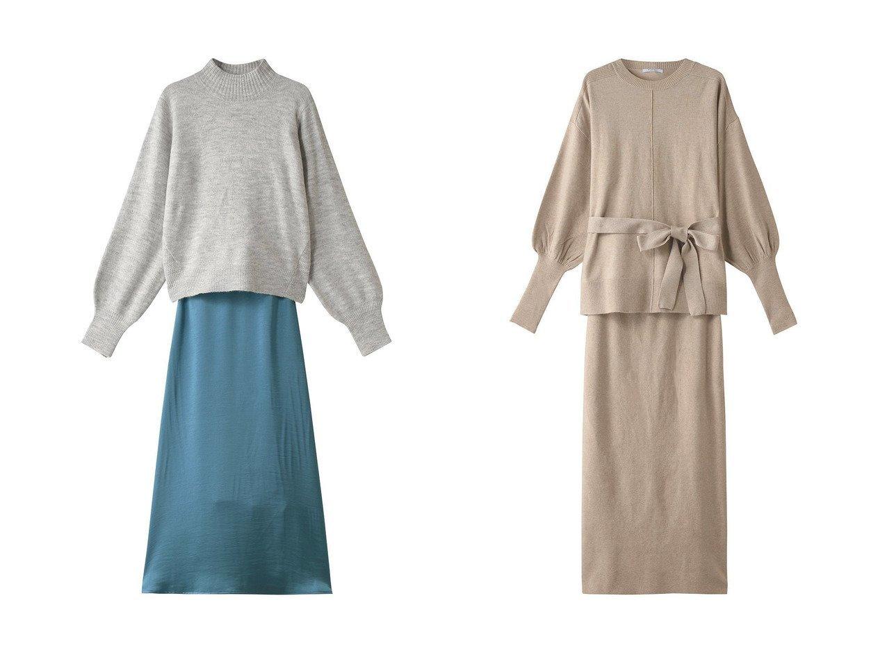 【Ezick/エジック】のサテンスカートニットセット&【ROSE BUD/ローズバッド】のニット&スカートセットアップ ワンピース・ドレスのおすすめ!人気、トレンド・レディースファッションの通販 おすすめで人気の流行・トレンド、ファッションの通販商品 メンズファッション・キッズファッション・インテリア・家具・レディースファッション・服の通販 founy(ファニー) https://founy.com/ ファッション Fashion レディースファッション WOMEN スカート Skirt ロングスカート Long Skirt セットアップ Setup スカート Skirt サテン トレンド ロング |ID:crp329100000009370