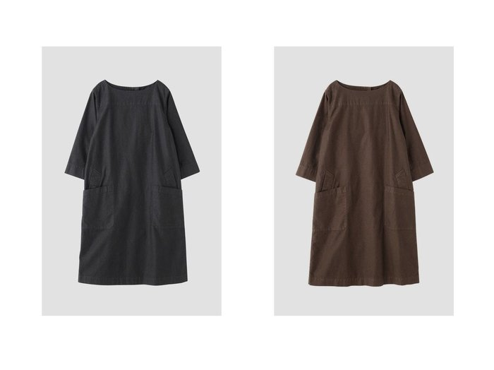 【MHL/エムエイチエル】のLIGHT COTTON MOLESKIN ワンピース・ドレスのおすすめ!人気、トレンド・レディースファッションの通販 おすすめファッション通販アイテム レディースファッション・服の通販 founy(ファニー) ファッション Fashion レディースファッション WOMEN ワンピース Dress ドレス パッチ ポケット |ID:crp329100000009379