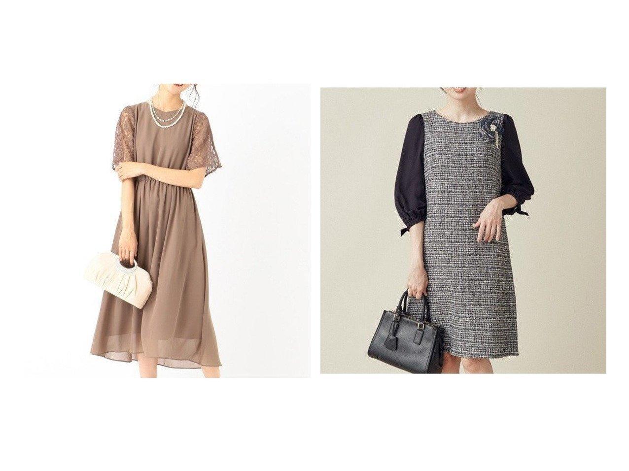 【any SiS/エニィ スィス】の【洗える】スリーブレースミディ ドレス&【KUMIKYOKU/組曲】の【セットアップ対応】ラメループモールツイード ワンピース ワンピース・ドレスのおすすめ!人気、トレンド・レディースファッションの通販 おすすめで人気の流行・トレンド、ファッションの通販商品 メンズファッション・キッズファッション・インテリア・家具・レディースファッション・服の通販 founy(ファニー) https://founy.com/ ファッション Fashion レディースファッション WOMEN ワンピース Dress ドレス Party Dresses オケージョン シフォン ジョーゼット ストレッチ スリット ドレス ラッセル レース コンビ ジャケット スリーブ セットアップ ツイード フォーマル ラグジュアリー ループ |ID:crp329100000009391