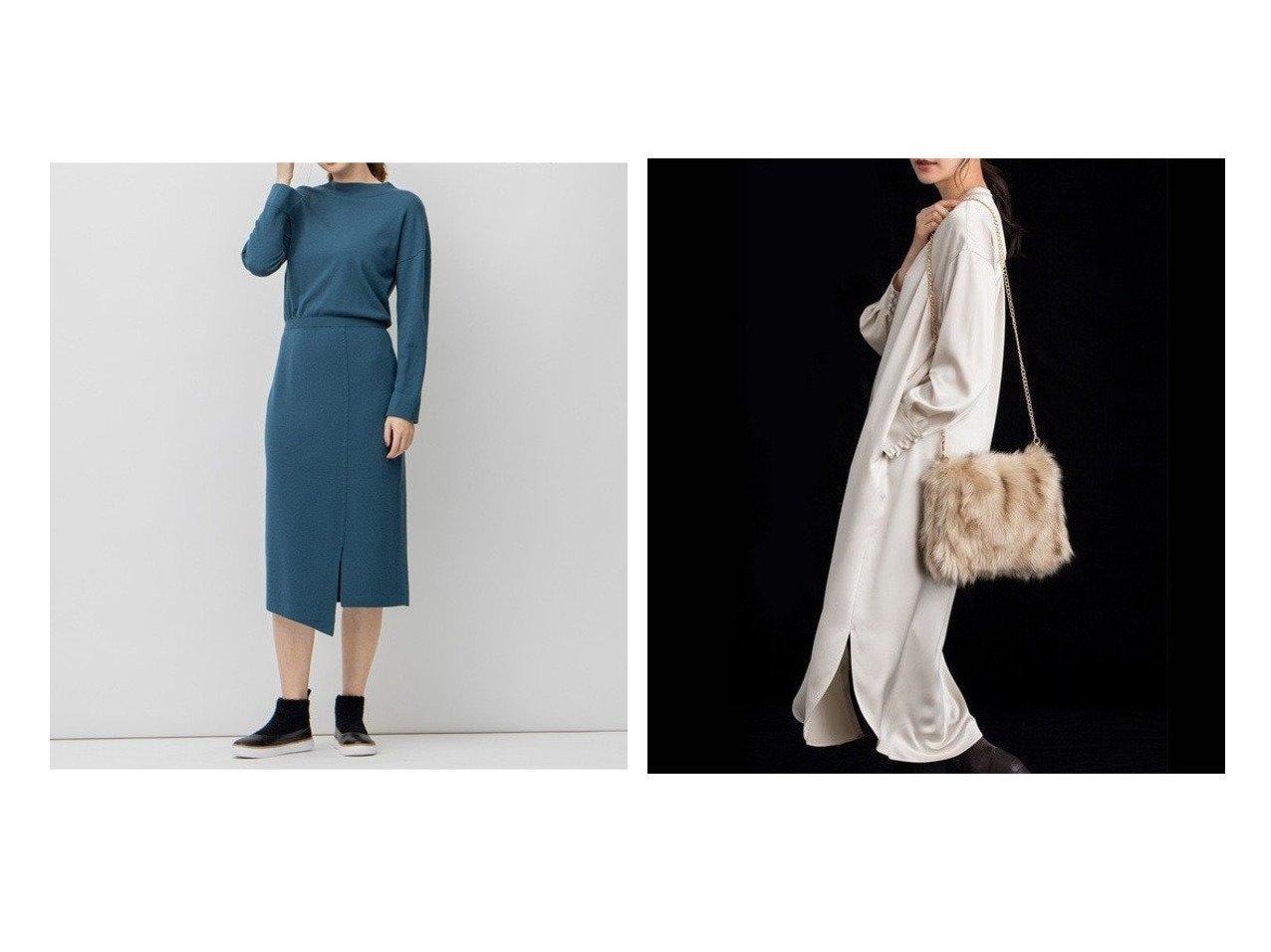 【JIYU-KU/自由区】の【UNFILO】レーヨンウール ニット ワンピース&【UNFILO・Sサイズ有】ドレープサテン シャツワンピース ワンピース・ドレスのおすすめ!人気、トレンド・レディースファッションの通販 おすすめで人気の流行・トレンド、ファッションの通販商品 メンズファッション・キッズファッション・インテリア・家具・レディースファッション・服の通販 founy(ファニー) https://founy.com/ ファッション Fashion レディースファッション WOMEN ワンピース Dress ニットワンピース Knit Dresses シャツワンピース Shirt Dresses シンプル ストレッチ スリット ラップ 人気 抗菌 雑誌 ヴィンテージ カフス クラシック サテン ドレープ バランス フィット フラット フロント 羽織  ID:crp329100000009396