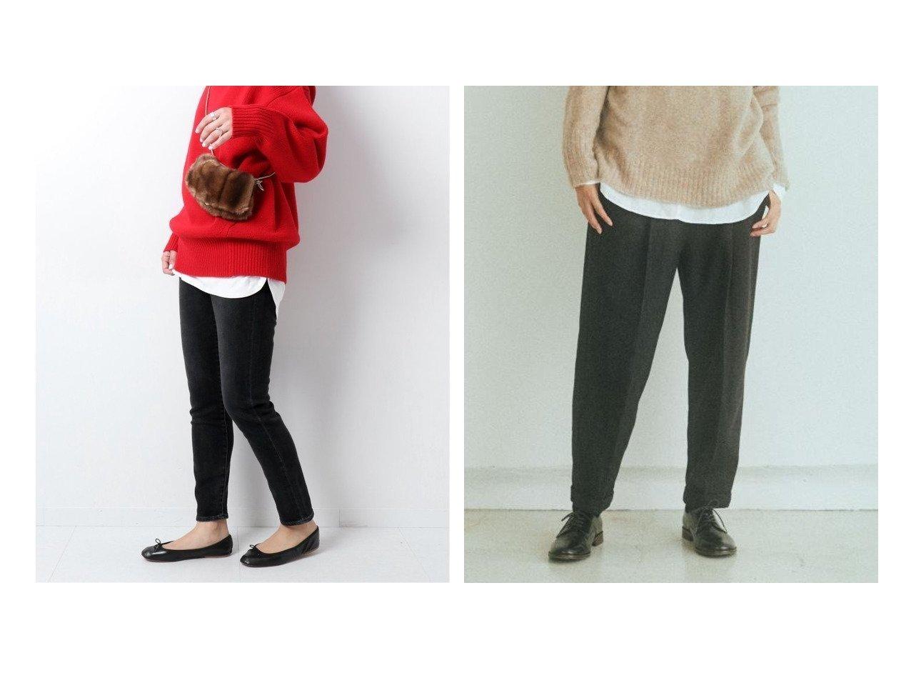【URBAN RESEARCH DOORS/アーバンリサーチ ドアーズ】のsiiwa ヘリンボーンフラノタックイージーパンツ&【Spick & Span/スピック&スパン】の【RED CARD】Anniversary Highrise パンツのおすすめ!人気、トレンド・レディースファッションの通販 おすすめで人気の流行・トレンド、ファッションの通販商品 メンズファッション・キッズファッション・インテリア・家具・レディースファッション・服の通販 founy(ファニー) https://founy.com/ ファッション Fashion レディースファッション WOMEN パンツ Pants デニムパンツ Denim Pants 2021年 2021 2021 春夏 S/S SS Spring/Summer 2021 S/S 春夏 SS Spring/Summer スキニーデニム ストレッチ デニム 再入荷 Restock/Back in Stock/Re Arrival 定番 ウォーム センター ダブル ヘリンボーン ポケット リラックス ワイド  ID:crp329100000009422