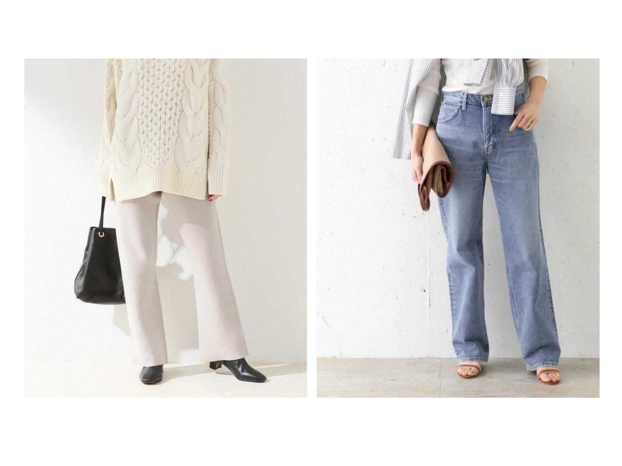 【URBAN RESEARCH ROSSO/アーバンリサーチ ロッソ】のLee STANDARD WARDROBE REGULAR&【FRAMeWORK/フレームワーク】の接結ニットパンツ パンツのおすすめ!人気、トレンド・レディースファッションの通販 おすすめで人気の流行・トレンド、ファッションの通販商品 メンズファッション・キッズファッション・インテリア・家具・レディースファッション・服の通販 founy(ファニー) https://founy.com/ ファッション Fashion レディースファッション WOMEN パンツ Pants デニムパンツ Denim Pants 2020年 2020 2020 秋冬 A/W AW Autumn/Winter / FW Fall-Winter 2020 A/W 秋冬 AW Autumn/Winter / FW Fall-Winter ストレート デニム ベーシック リラックス レギュラー ワイド  ID:crp329100000009427