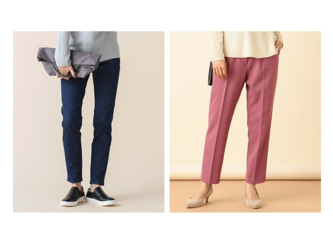 【any SiS/エニィ スィス】の【L'aube】LeeJEGGINGS パンツ&【洗える】ハイウエストテーパード パンツ パンツのおすすめ!人気、トレンド・レディースファッションの通販 おすすめで人気の流行・トレンド、ファッションの通販商品 メンズファッション・キッズファッション・インテリア・家具・レディースファッション・服の通販 founy(ファニー) https://founy.com/ ファッション Fashion レディースファッション WOMEN パンツ Pants 送料無料 Free Shipping ストレッチ デニム フィット レギンス 人気 アンティーク ギャザー スリット センター ベーシック ポケット  ID:crp329100000009442