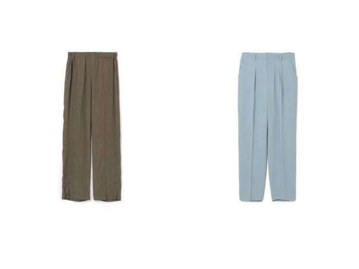【08sircus/ゼロエイトサーカス】のViscose washer slit easy pants&【M7days/エムセブンデイズ】のセミテーパードパンツ パンツのおすすめ!人気、トレンド・レディースファッションの通販 おすすめファッション通販アイテム レディースファッション・服の通販 founy(ファニー) ファッション Fashion レディースファッション WOMEN パンツ Pants 2021年 2021 2021 春夏 S/S SS Spring/Summer 2021 S/S 春夏 SS Spring/Summer ストレート スリット 人気 定番 春 センター テーパード |ID:crp329100000009459