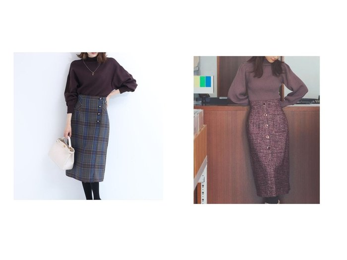 【PROPORTION BODY DRESSING/プロポーション ボディドレッシング】の《堀田茜さん着用 美人百花11月号掲載商品》ツイードタイトスカート&【Apuweiser-riche/アプワイザーリッシェ】の配色パイピングタイトスカート スカートのおすすめ!人気、トレンド・レディースファッションの通販 おすすめファッション通販アイテム レディースファッション・服の通販 founy(ファニー) 雑誌掲載アイテム Magazine items ファッション雑誌 Fashion magazines ビジンヒャッカ 美人百花 ファッションモデル・俳優・女優 Models 女性 Women 堀田茜 Hotta Akane ファッション Fashion レディースファッション WOMEN スカート Skirt NEW・新作・新着・新入荷 New Arrivals タイトスカート パイピング ミモレ クラシック グラデーション 11月号 雑誌 ツイード フロント ループ A/W 秋冬 AW Autumn/Winter / FW Fall-Winter 再入荷 Restock/Back in Stock/Re Arrival |ID:crp329100000009491