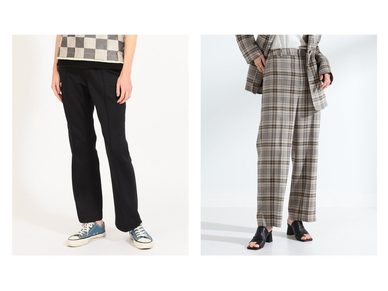 【BEAMS BOY/ビームス ボーイ】のStitch Painter Pants&【Ray BEAMS/レイ ビームス】のチェック サイド スリット パンツ パンツのおすすめ!人気、トレンド・レディースファッションの通販 おすすめで人気の流行・トレンド、ファッションの通販商品 メンズファッション・キッズファッション・インテリア・家具・レディースファッション・服の通販 founy(ファニー) https://founy.com/ ファッション Fashion レディースファッション WOMEN パンツ Pants NEW・新作・新着・新入荷 New Arrivals ジーンズ スリット チェック ベーシック 再入荷 Restock/Back in Stock/Re Arrival ジャケット スラックス セットアップ ドレス |ID:crp329100000009505