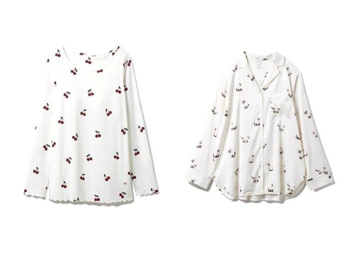 【gelato pique/ジェラート ピケ】のシャムネコサテンシャツ&チェリープルオーバー ホームウェアのおすすめ!人気、トレンド・レディースファッションの通販 おすすめファッション通販アイテム インテリア・キッズ・メンズ・レディースファッション・服の通販 founy(ファニー) https://founy.com/ ファッション Fashion レディースファッション WOMEN トップス Tops Tshirt シャツ/ブラウス Shirts Blouses ロング / Tシャツ T-Shirts プルオーバー Pullover カットソー Cut and Sewn カットソー ストレッチ チェリー リラックス レギンス ロング 再入荷 Restock/Back in Stock/Re Arrival サテン スタイリッシュ セットアップ ネコ バランス パジャマ プリント モチーフ 人気 吸水  ID:crp329100000009572