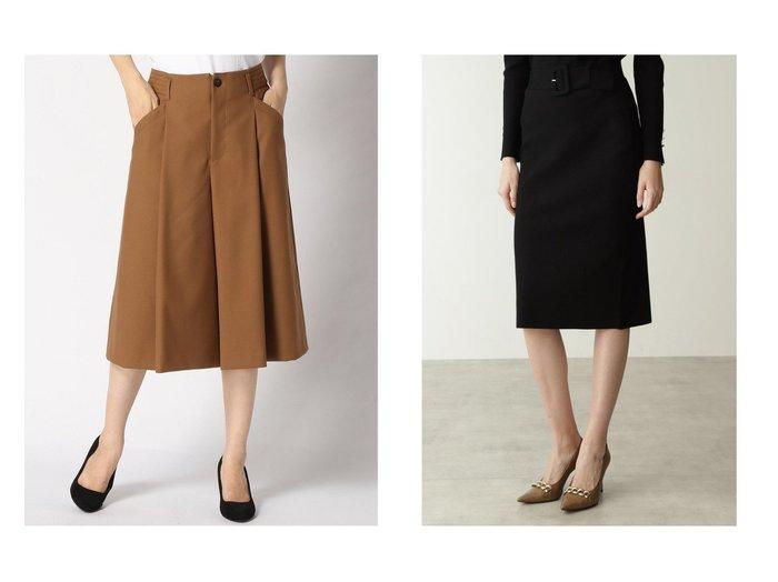 【ANAYI/アナイ】のレーヨンツイルキュロットPT&【Pinky&Dianne/ピンキーアンドダイアン】のベルト付きセットアップタイトスカート スカートのおすすめ!人気、トレンド・レディースファッションの通販  おすすめファッション通販アイテム レディースファッション・服の通販 founy(ファニー) ファッション Fashion レディースファッション WOMEN セットアップ Setup スカート Skirt ベルト Belts スカート Skirt エレガント シンプル スリム セットアップ タイトスカート キュロット ジーンズ ツイル フロント |ID:crp329100000009657