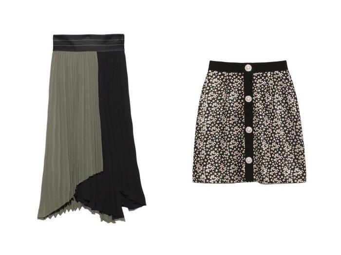 【FRAY I.D/フレイ アイディー】のプリーツバイカラースカート&【Lily Brown/リリーブラウン】の[L.B CANDY STOCK]ビジュー釦ミニスカート スカートのおすすめ!人気、トレンド・レディースファッションの通販  おすすめファッション通販アイテム インテリア・キッズ・メンズ・レディースファッション・服の通販 founy(ファニー) https://founy.com/ ファッション Fashion レディースファッション WOMEN スカート Skirt ミニスカート Mini Skirts コンパクト パイピング ビジュー フロント ミニスカート 台形 アシンメトリー イレギュラー コンビ バランス プリーツ ヘムライン ランダム |ID:crp329100000009680