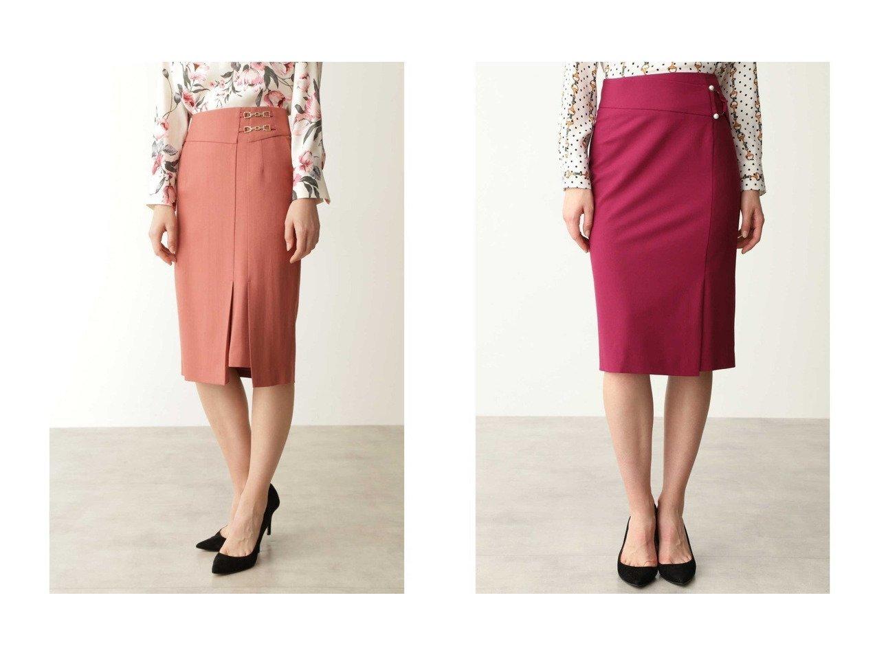【Pinky&Dianne/ピンキーアンドダイアン】のダブルビットラップ風スカート&パールバックルタイトスカート スカートのおすすめ!人気、トレンド・レディースファッションの通販  おすすめで人気の流行・トレンド、ファッションの通販商品 メンズファッション・キッズファッション・インテリア・家具・レディースファッション・服の通販 founy(ファニー) https://founy.com/ ファッション Fashion レディースファッション WOMEN スカート Skirt バッグ Bag ストレッチ パール エレガント ラップ |ID:crp329100000009686