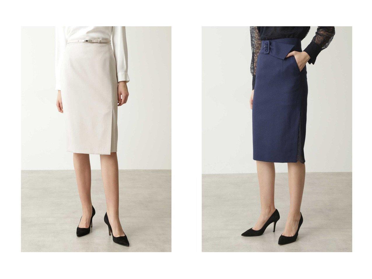 【Pinky&Dianne/ピンキーアンドダイアン】のスリットレースフラノスカート&ウールセットアップスカート スカートのおすすめ!人気、トレンド・レディースファッションの通販  おすすめで人気の流行・トレンド、ファッションの通販商品 メンズファッション・キッズファッション・インテリア・家具・レディースファッション・服の通販 founy(ファニー) https://founy.com/ ファッション Fashion レディースファッション WOMEN セットアップ Setup スカート Skirt スカート Skirt ジャケット セットアップ ツイル スリット タイトスカート レース |ID:crp329100000009687