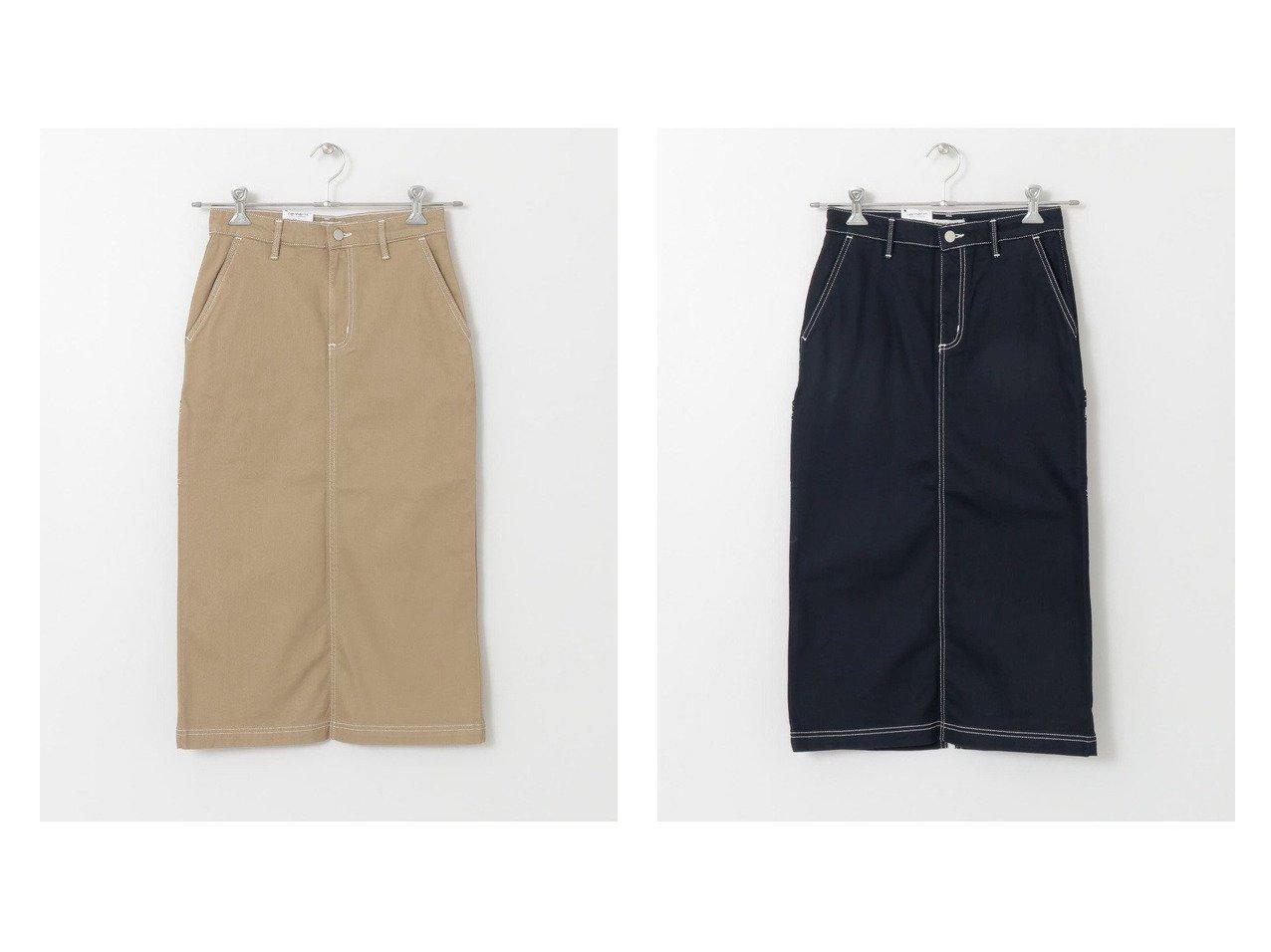 【Sonny Label / URBAN RESEARCH/サニーレーベル】のCARHARTT W PIERCE SKIRT スカートのおすすめ!人気、トレンド・レディースファッションの通販  おすすめで人気の流行・トレンド、ファッションの通販商品 メンズファッション・キッズファッション・インテリア・家具・レディースファッション・服の通販 founy(ファニー) https://founy.com/ ファッション Fashion レディースファッション WOMEN スカート Skirt スタンダード デニム ポケット ワーク |ID:crp329100000009688
