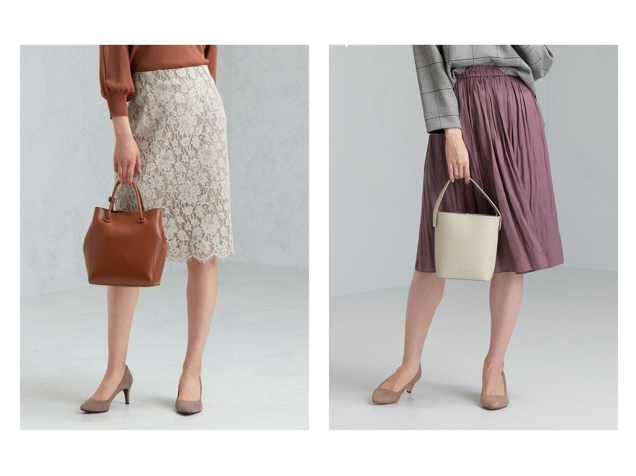【green label relaxing / UNITED ARROWS/グリーンレーベル リラクシング / ユナイテッドアローズ】のCS レース タイト スカート&CS monable マットサテン ギャザー スカート スカートのおすすめ!人気、トレンド・レディースファッションの通販  おすすめで人気の流行・トレンド、ファッションの通販商品 メンズファッション・キッズファッション・インテリア・家具・レディースファッション・服の通販 founy(ファニー) https://founy.com/ ファッション Fashion レディースファッション WOMEN スカート Skirt Aライン/フレアスカート Flared A-Line Skirts 秋 タイトスカート フラワー レース 冬 Winter NEW・新作・新着・新入荷 New Arrivals ギャザー サテン フレア A/W 秋冬 AW Autumn/Winter / FW Fall-Winter |ID:crp329100000009698