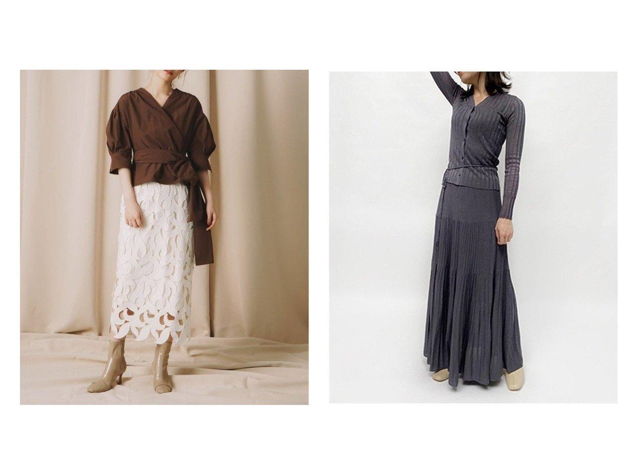 【FRAY I.D/フレイ アイディー】のソフトラメプリーツニットSK&【CELFORD/セルフォード】のリーフレーススカート スカートのおすすめ!人気、トレンド・レディースファッションの通販  おすすめで人気の流行・トレンド、ファッションの通販商品 メンズファッション・キッズファッション・インテリア・家具・レディースファッション・服の通販 founy(ファニー) https://founy.com/ ファッション Fashion レディースファッション WOMEN スカート Skirt プリーツスカート Pleated Skirts オケージョン ケミカル シンプル ジャケット ヘムライン モチーフ リーフ レース 人気 A/W 秋冬 AW Autumn/Winter / FW Fall-Winter アイレット ギャザー セットアップ プリーツ |ID:crp329100000009701