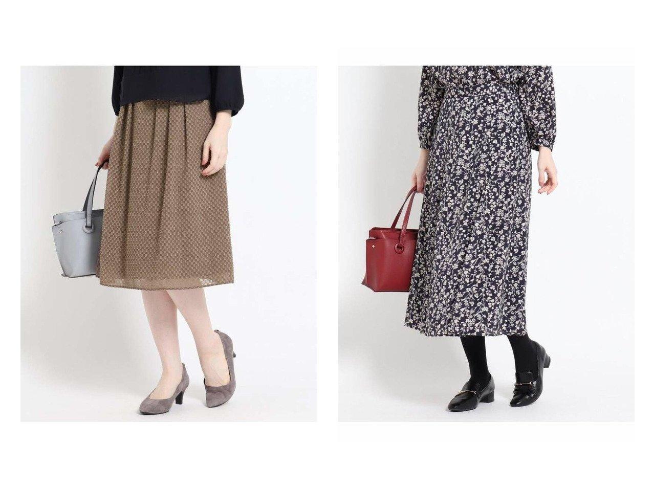【Reflect/リフレクト】のブロックカットジャカードスカート&アンティークフラワースカート スカートのおすすめ!人気、トレンド・レディースファッションの通販  おすすめで人気の流行・トレンド、ファッションの通販商品 メンズファッション・キッズファッション・インテリア・家具・レディースファッション・服の通販 founy(ファニー) https://founy.com/ ファッション Fashion レディースファッション WOMEN スカート Skirt ロングスカート Long Skirt シフォン ジャカード ジョーゼット フレア ブロック ギャザー クラシカル セットアップ プリント ロング ロンドン |ID:crp329100000009704