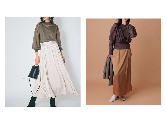 【FRAY I.D/フレイ アイディー】のサテンギャザーフレアマキシSK&ストレートサテンスカート スカートのおすすめ!人気、トレンド・レディースファッションの通販  おすすめファッション通販アイテム インテリア・キッズ・メンズ・レディースファッション・服の通販 founy(ファニー) https://founy.com/ ファッション Fashion レディースファッション WOMEN スカート Skirt ロングスカート Long Skirt サテン バランス フレア マキシ ロング |ID:crp329100000009709