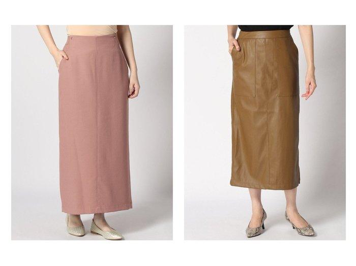 【LOWRYS FARM/ローリーズファーム】のECOレザータイトスカート&【SLOBE IENA/スローブ イエナ】のウールコンツイル ロングタイトSK スカートのおすすめ!人気、トレンド・レディースファッションの通販  おすすめファッション通販アイテム レディースファッション・服の通販 founy(ファニー) ファッション Fashion レディースファッション WOMEN スカート Skirt 2020年 2020 2020-2021 秋冬 A/W AW Autumn/Winter / FW Fall-Winter 2020-2021 A/W 秋冬 AW Autumn/Winter / FW Fall-Winter シンプル スリット タイトスカート ポケット |ID:crp329100000009710